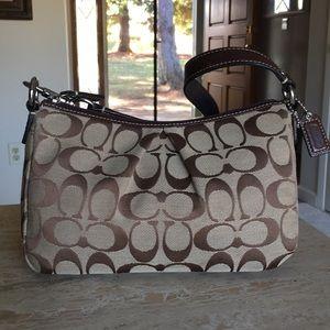 🌹COACH Signature Fabric & Leather Mini-Handbag!
